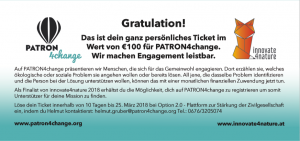 Ticket innovate4nature